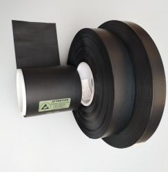Plastic PE conductive carbon black film on roll